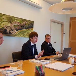 BSA steigėjai susitiko Švedijoje su STIB pastolininkų asociacija