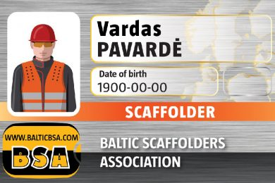 BSA Scaffolder card