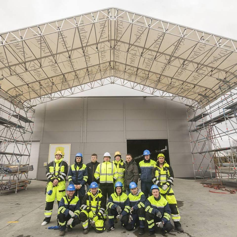 Dviejų dienų Keder XL laikino stogo montavimo kursai